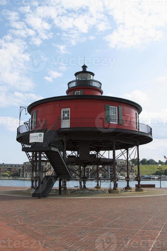 roter Leuchtturm - Baltimore, Maryland foto