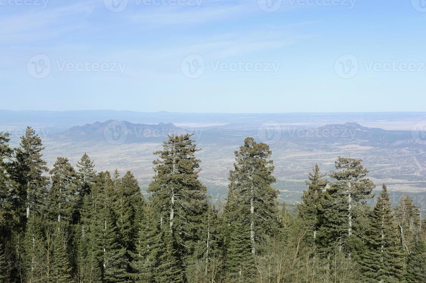 südwestliche Landschaft - Blick vom Sandia Crest foto