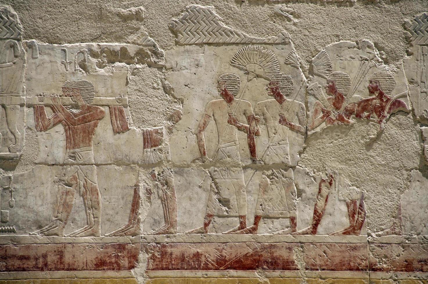 Hatshepsut Tempel Fresko foto