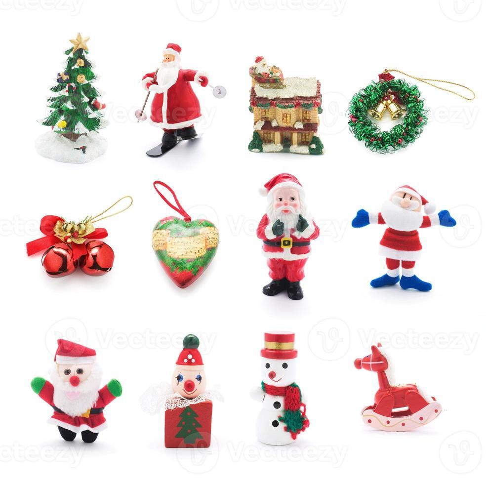 Sammlung von Weihnachtsschmuck foto