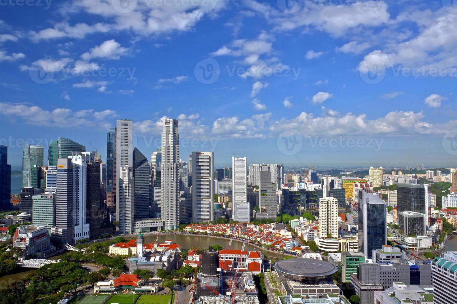 Skyline von Singapur foto