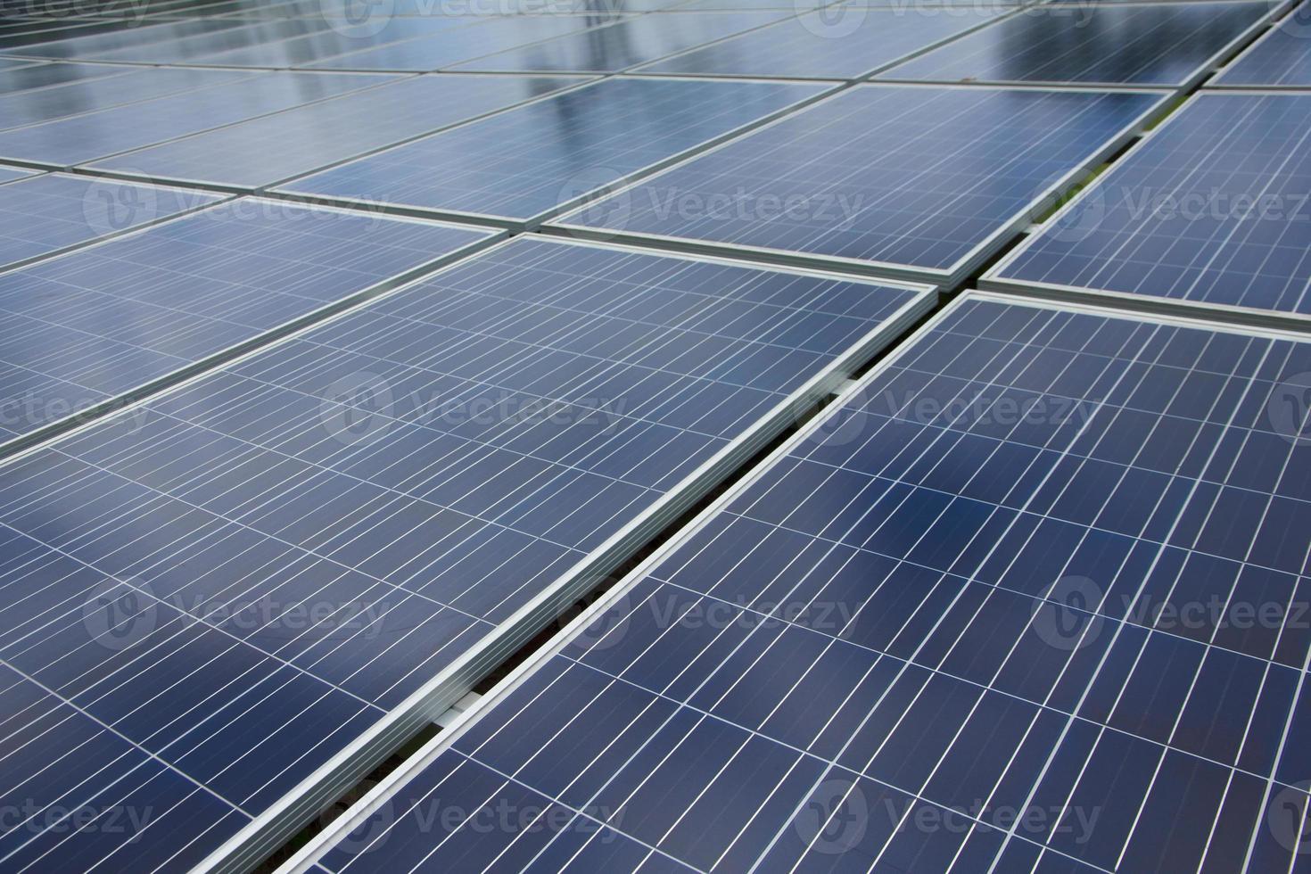 Foto: Nahaufnahme des Solarpanels foto