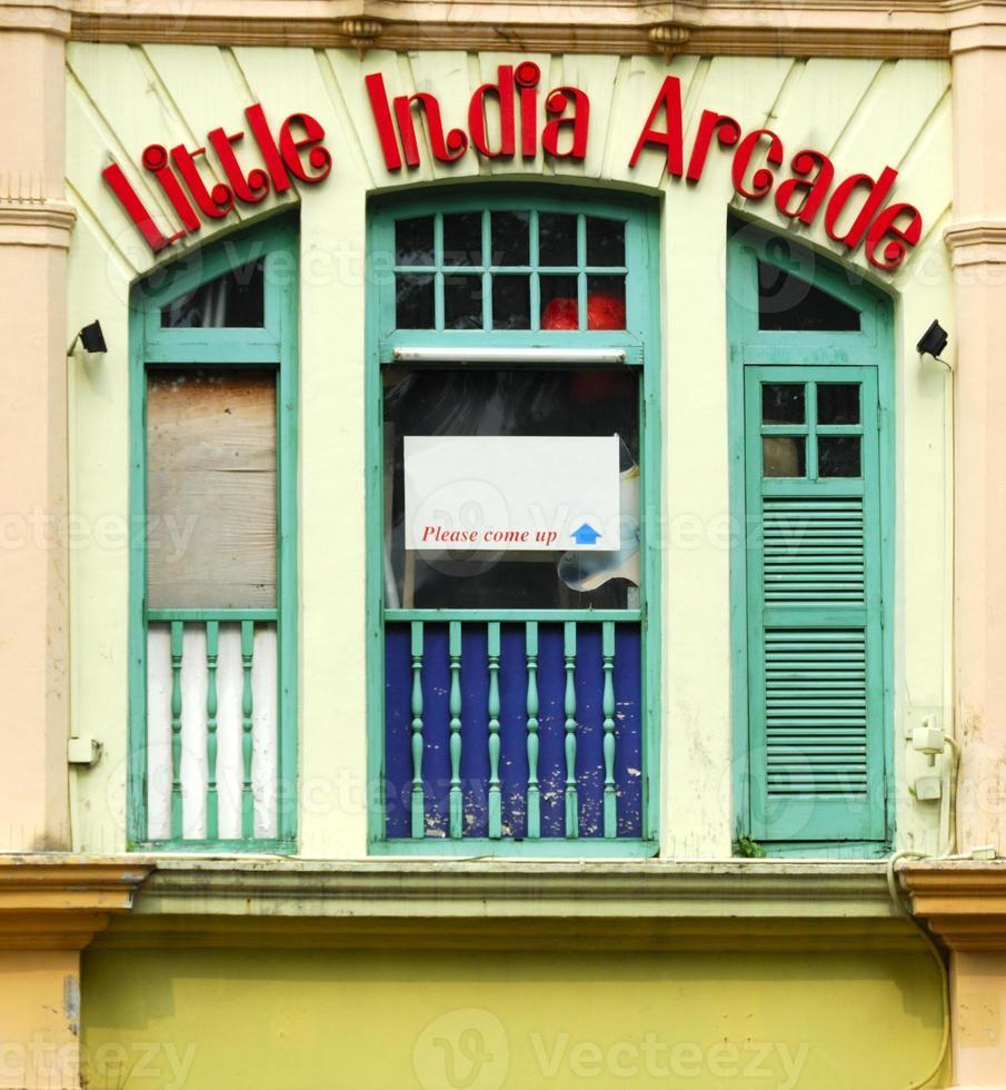kleine indische Arkade, Singapur foto