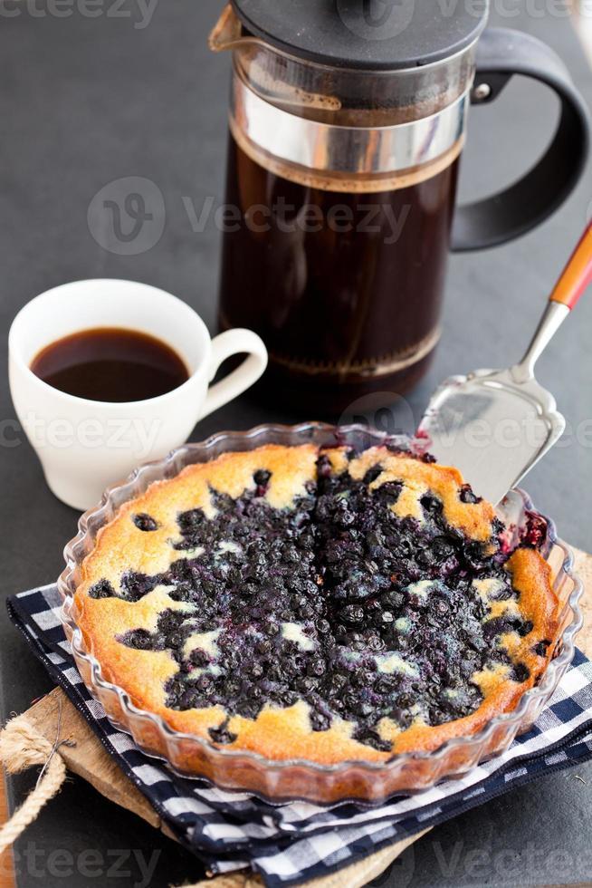 Blaubeerkuchen und Kaffee foto