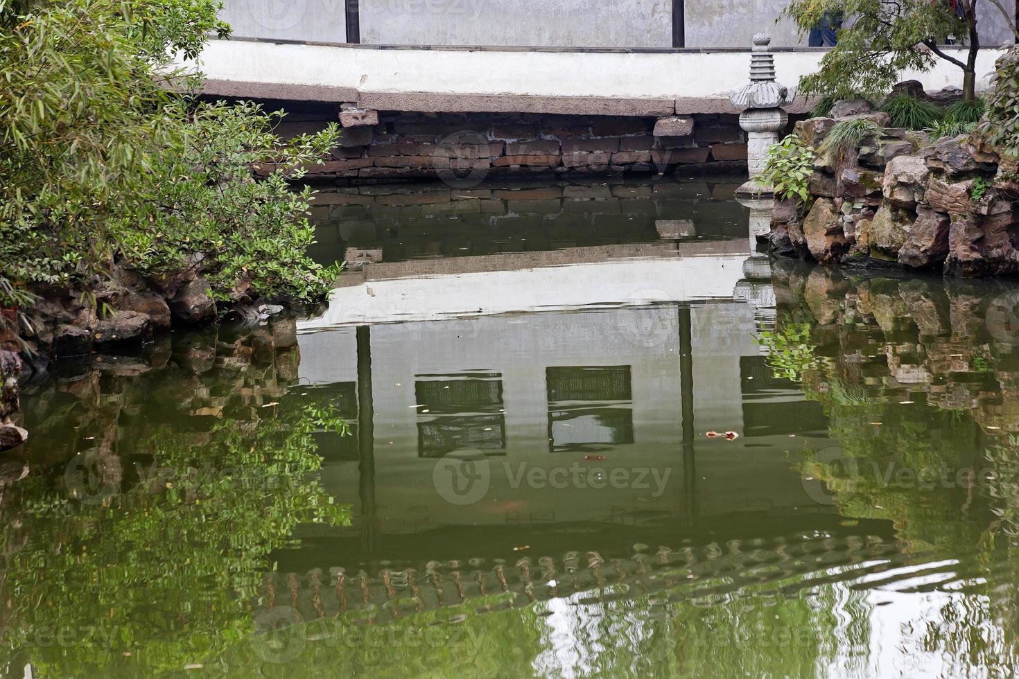 Garten der bescheidenen Administrator Reflexion Suzhou China foto