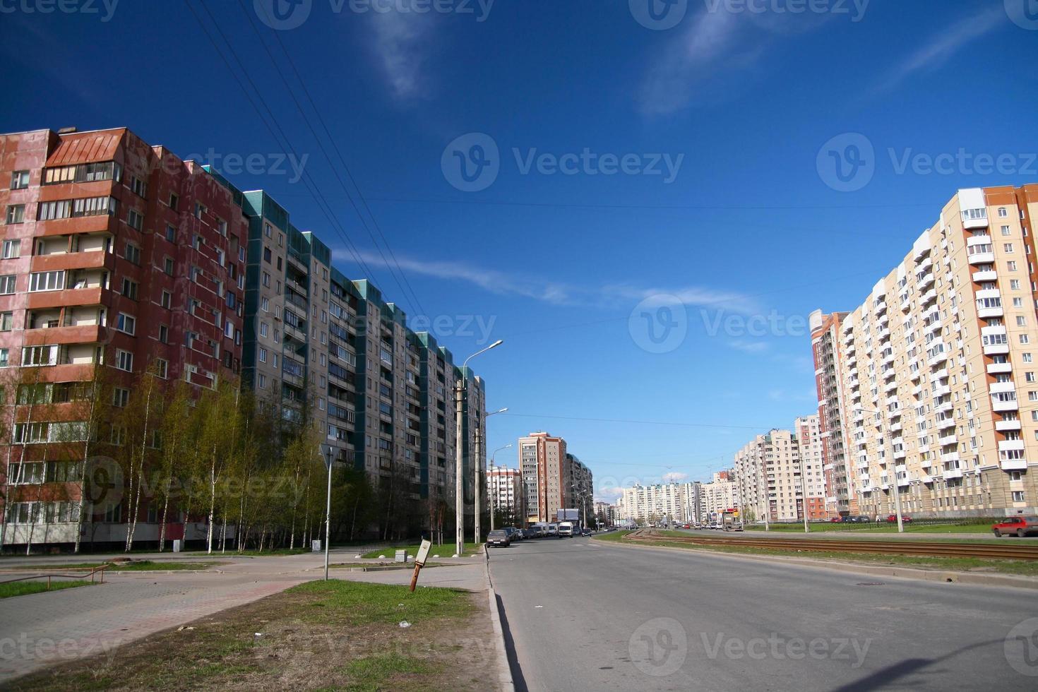 Stadtstraße in Saint Petersburg foto