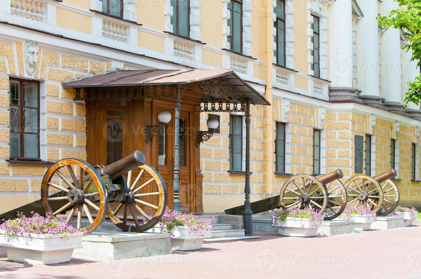 konstantinovsky militärhochschule (die höhere artillerie) seit 1857. st.-petersburg. Russland foto