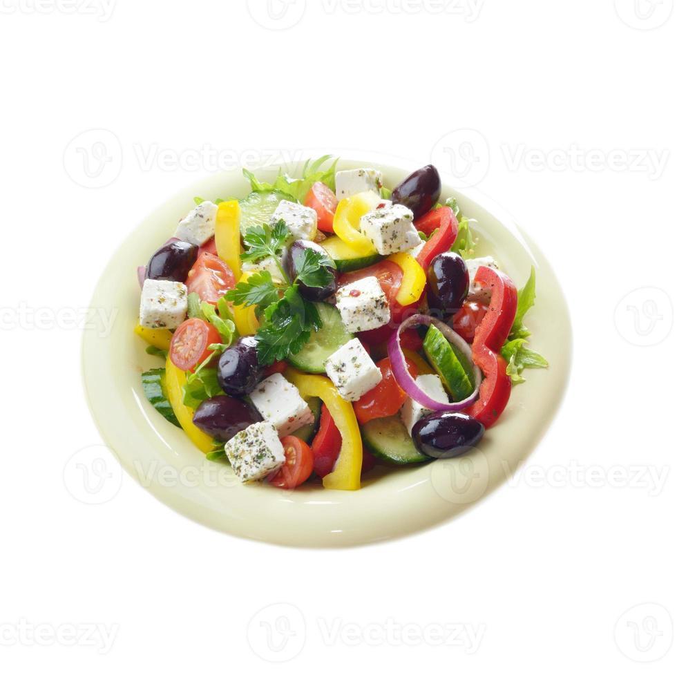 hausgemachter griechischer Salat foto