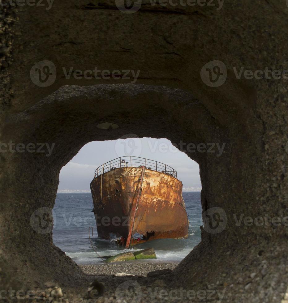 Wrack im Loch foto