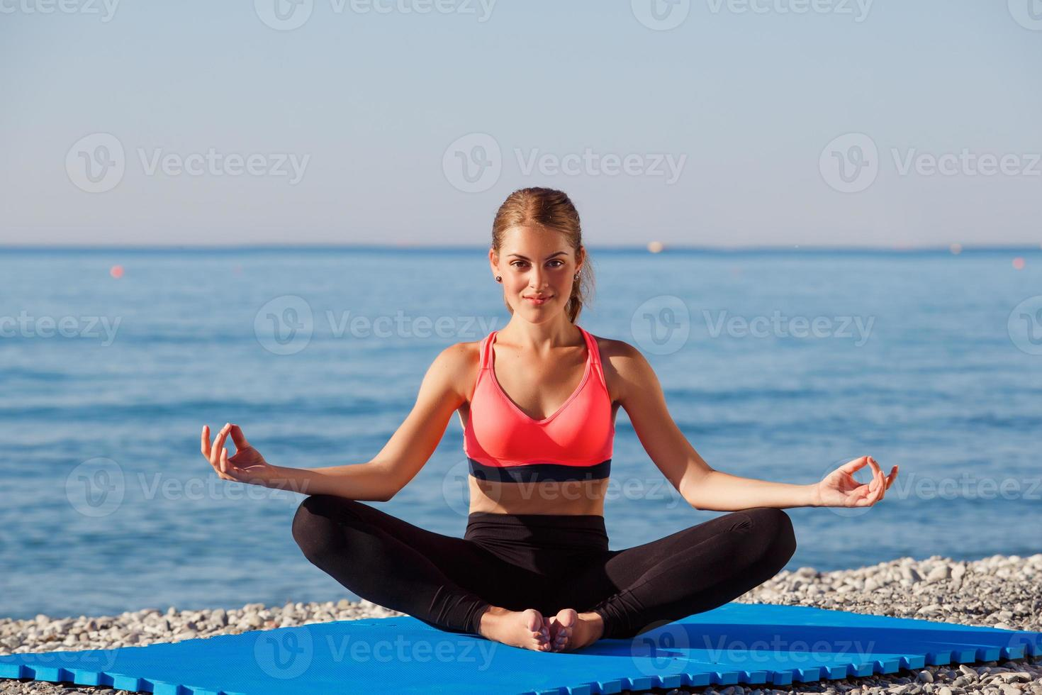 Yoga am Meer foto