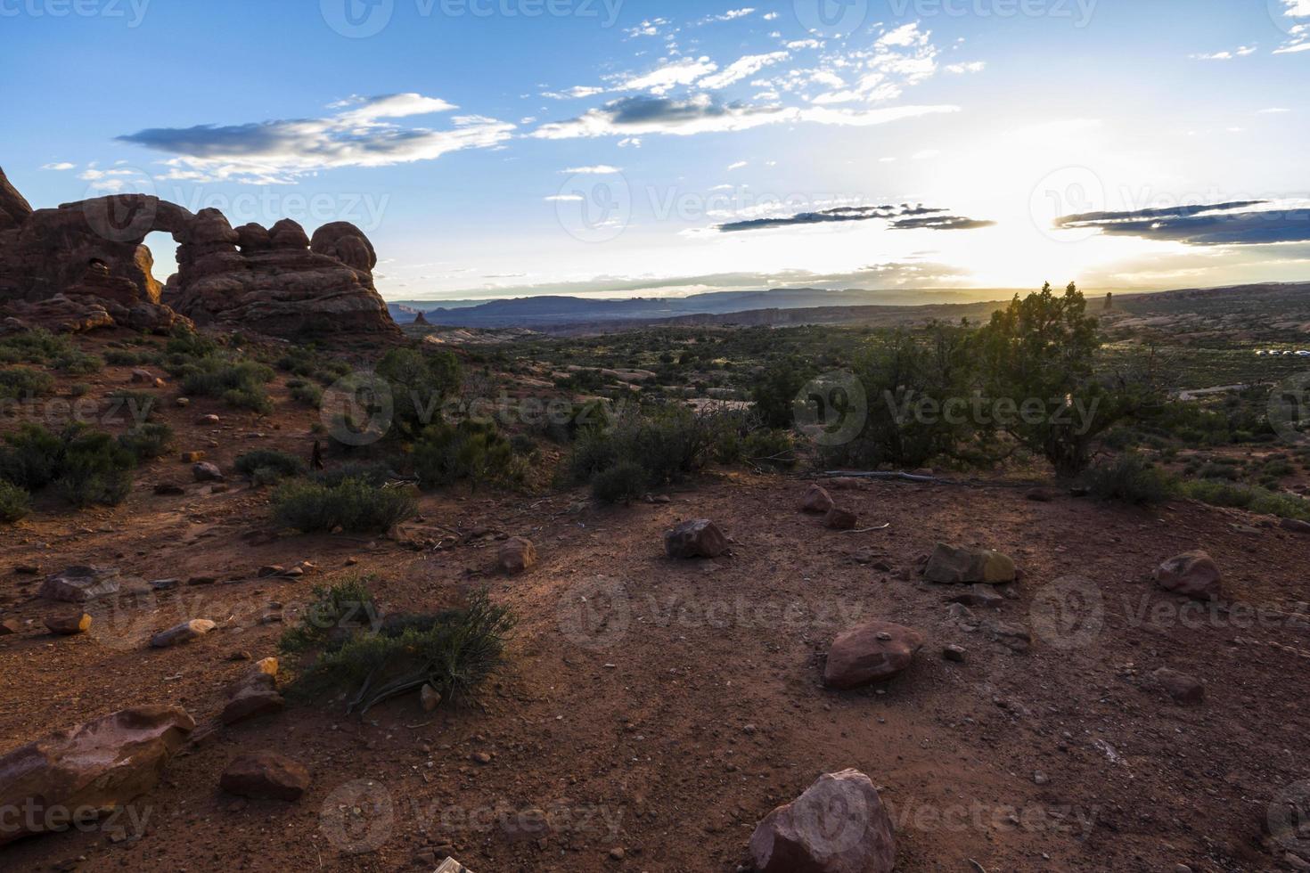 Bögen np Wüstenlandschaft in Utah foto
