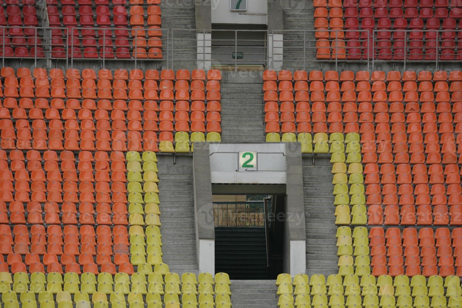 Stadion nach dem Spiel foto