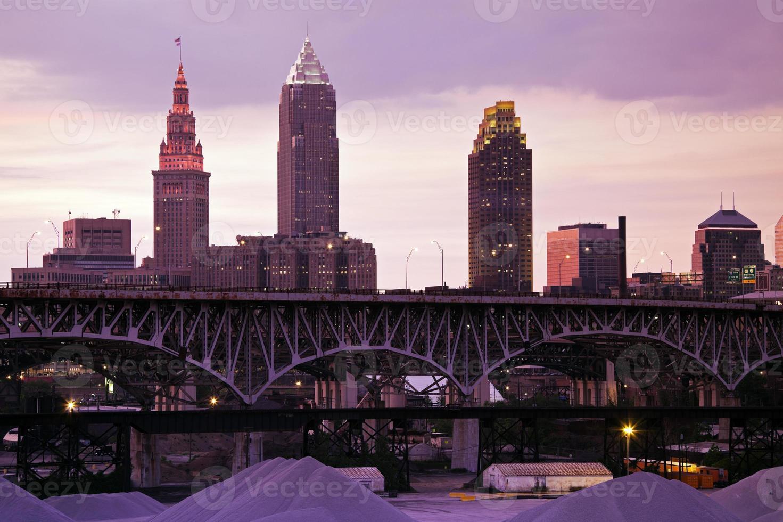 Sonnenuntergang in Cleveland foto