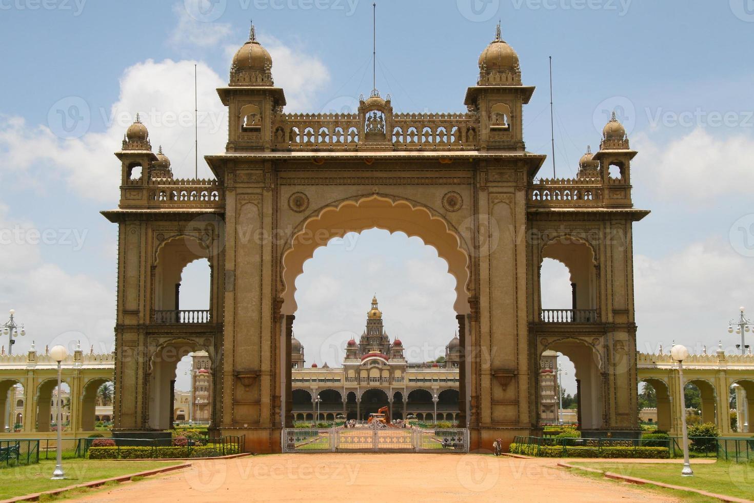 Palast von Mysore in Indien foto