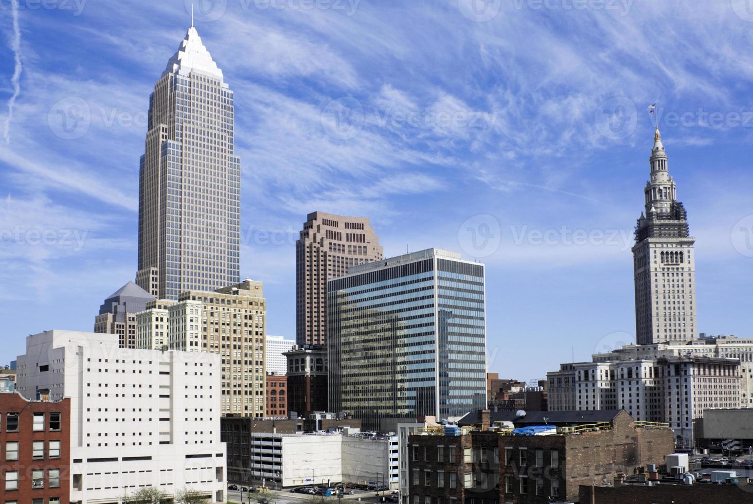 Wolkenkratzer in der Innenstadt von Cleveland foto