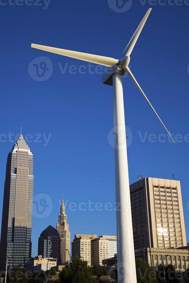 Windkraftanlage in Cleveland foto