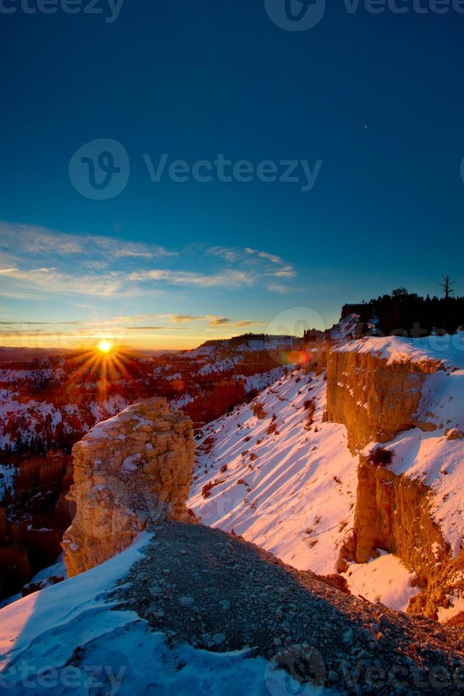 Bryce Winter Sonnenaufgang foto