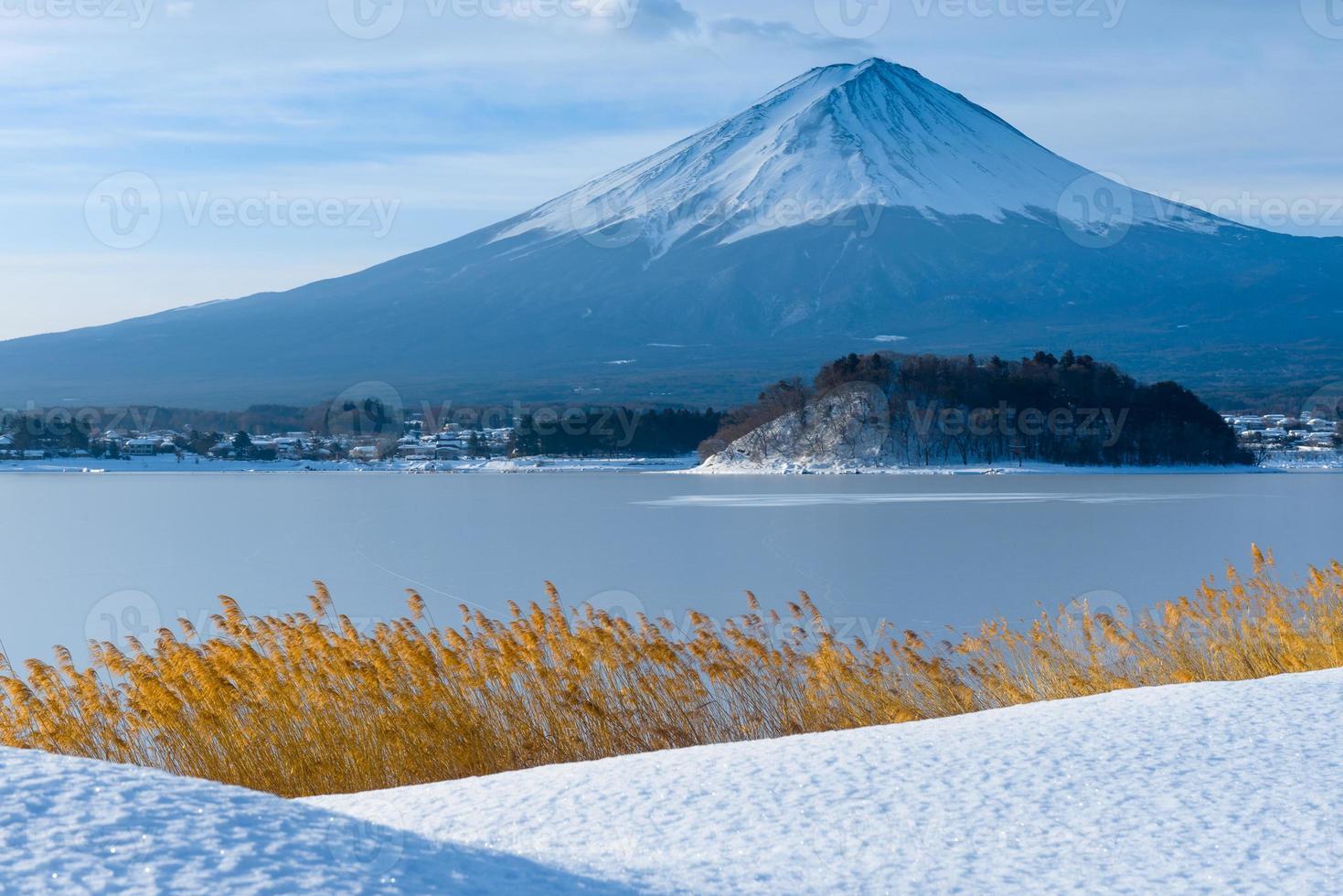 Mount Fuji Wintersaison foto