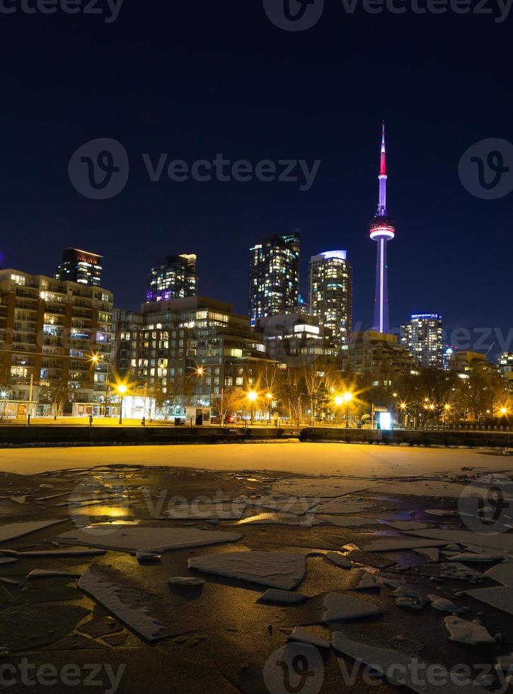 Toronto Skyline im Winter foto