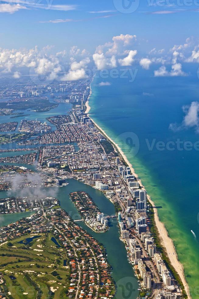 Antenne der Küste Miami foto