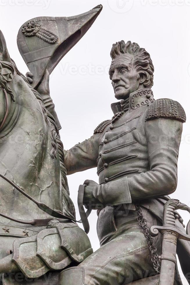 Andrew Jackson Statue Lafayette Park Pennsylvania Ave Washington foto