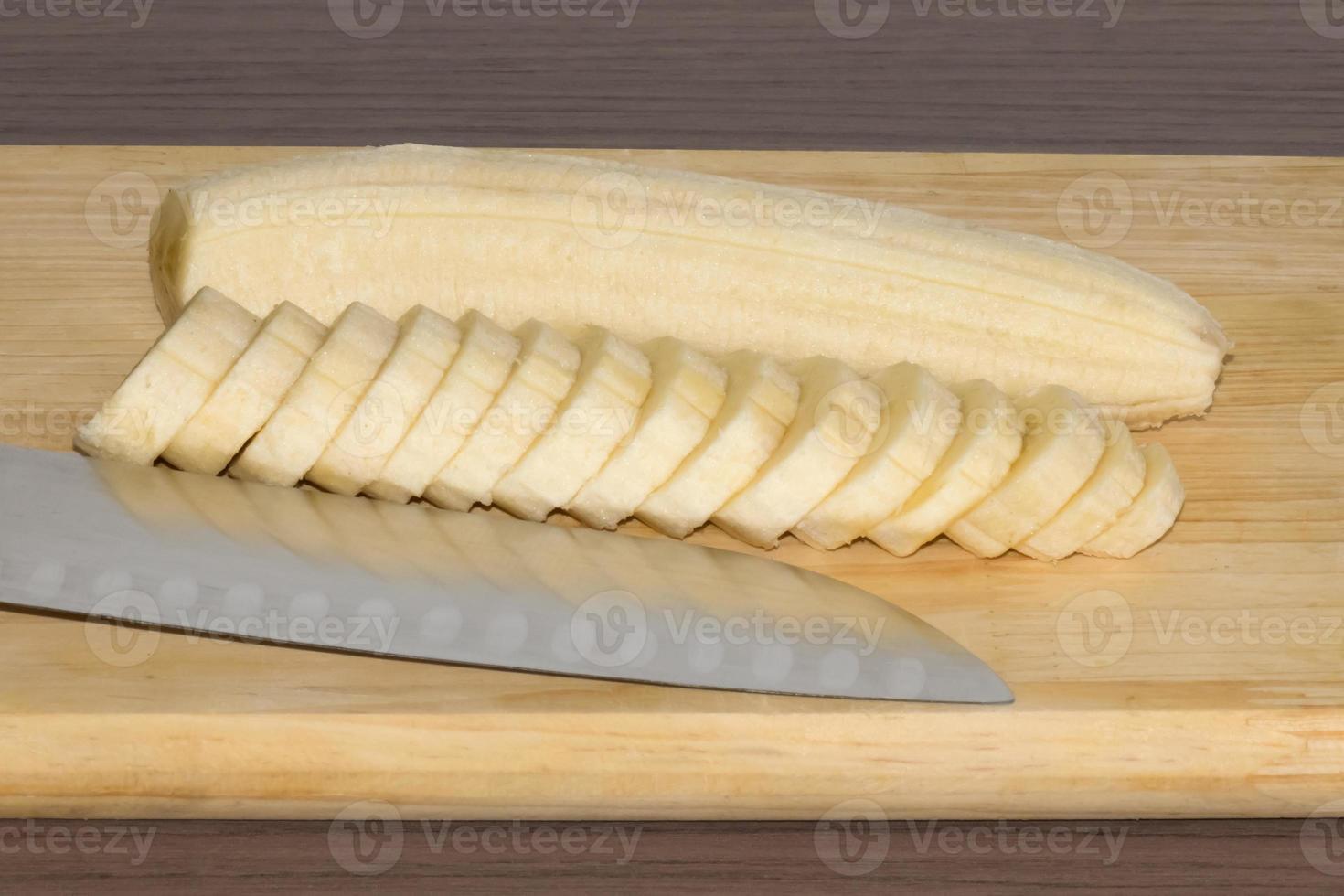 geschnittene Banane foto