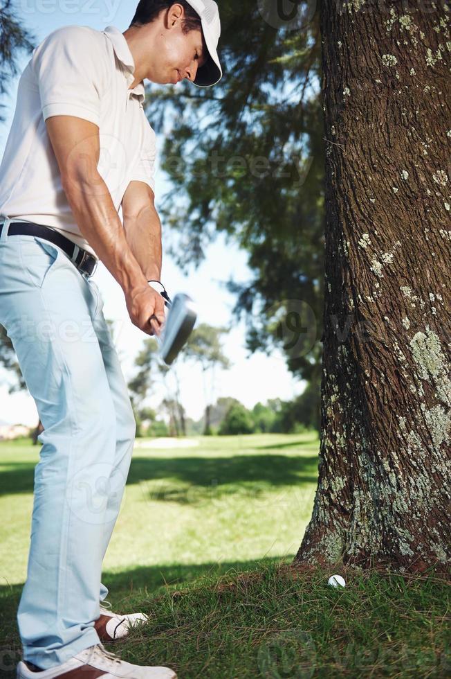 Golf in rauen foto