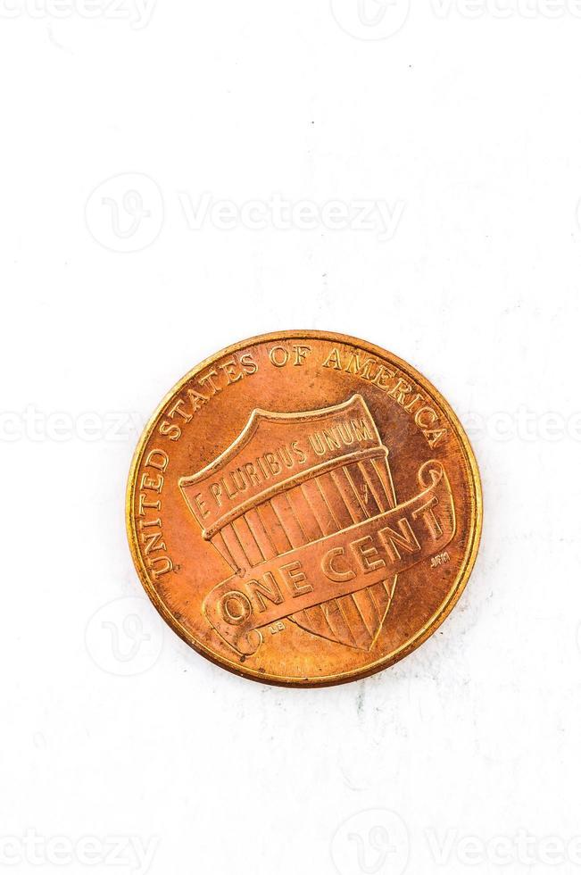 1 US-Cent-Münze Kupfer in Gott, dem wir vertrauen foto