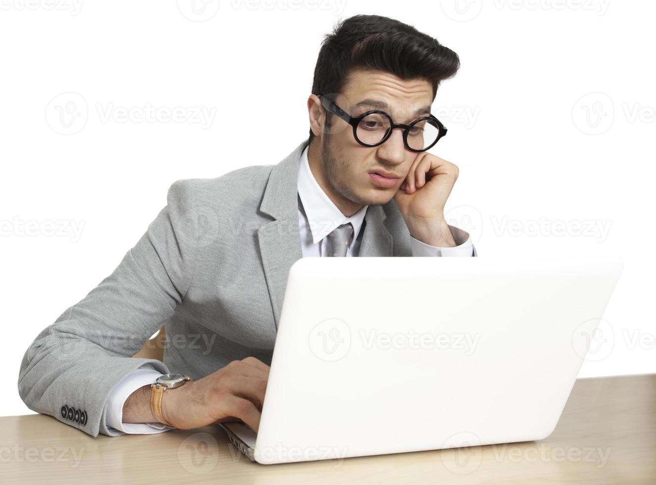 besorgter Geschäftsmann in Stress foto