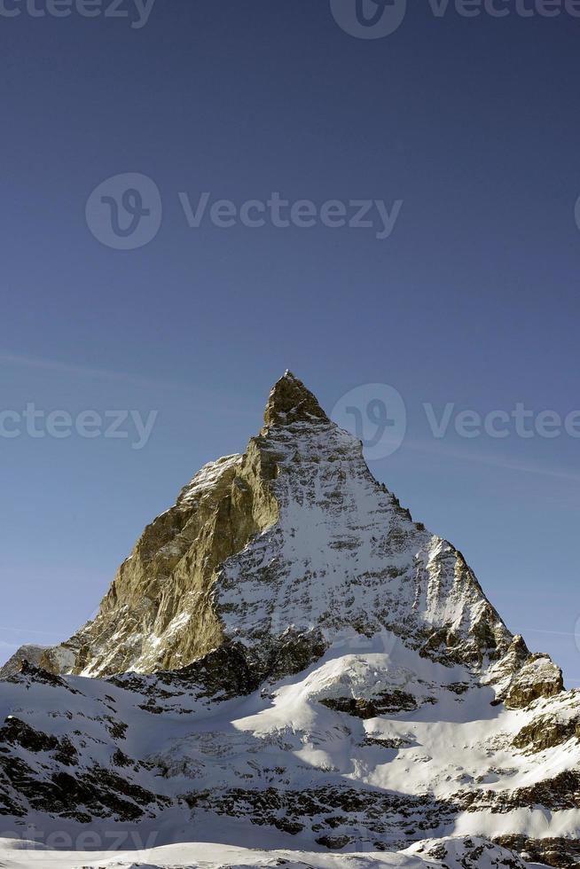 Landschaftsaufnahme der Schweiz des Matterhorns foto