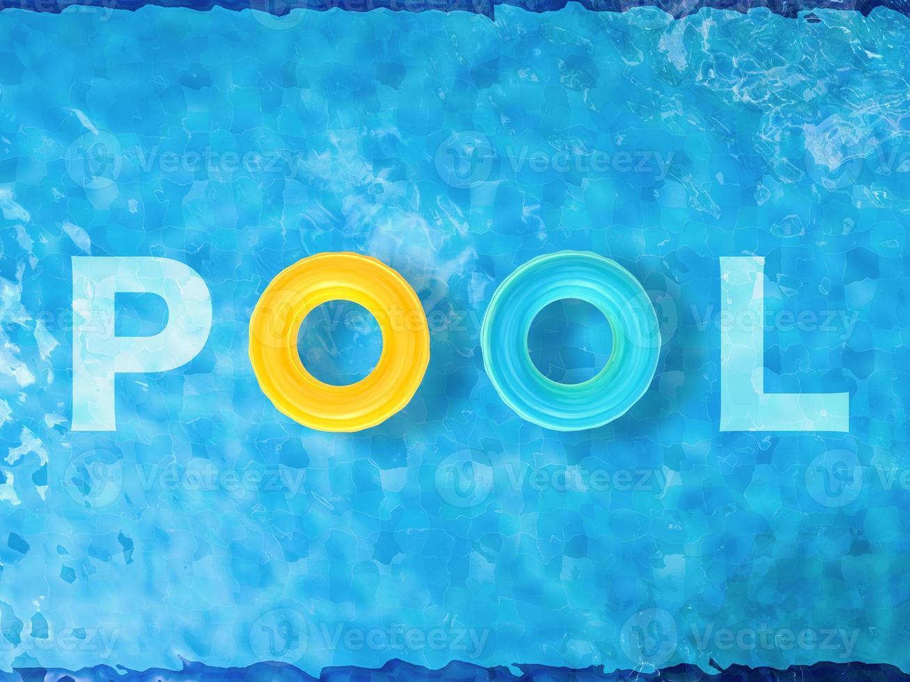 Pool Draufsicht foto