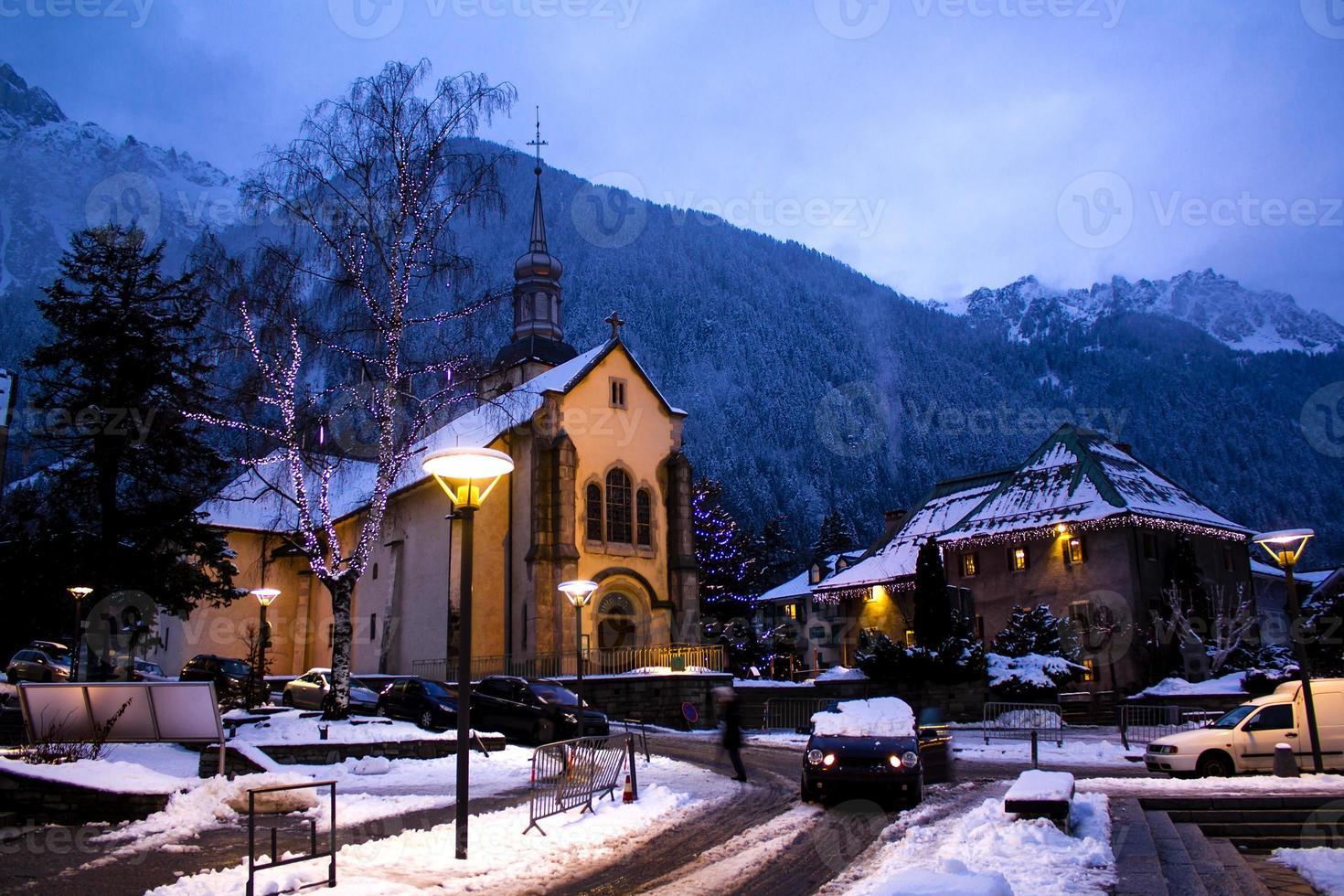 Chamonix Stadt foto