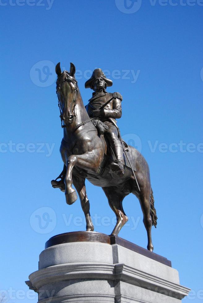 George Washington Statue im öffentlichen Garten von Boston foto