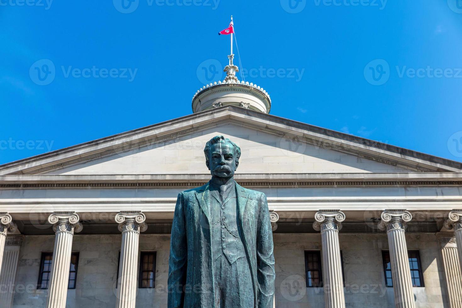 Das Tennessee State Capitol Gebäude in der Innenstadt von Nashville. foto