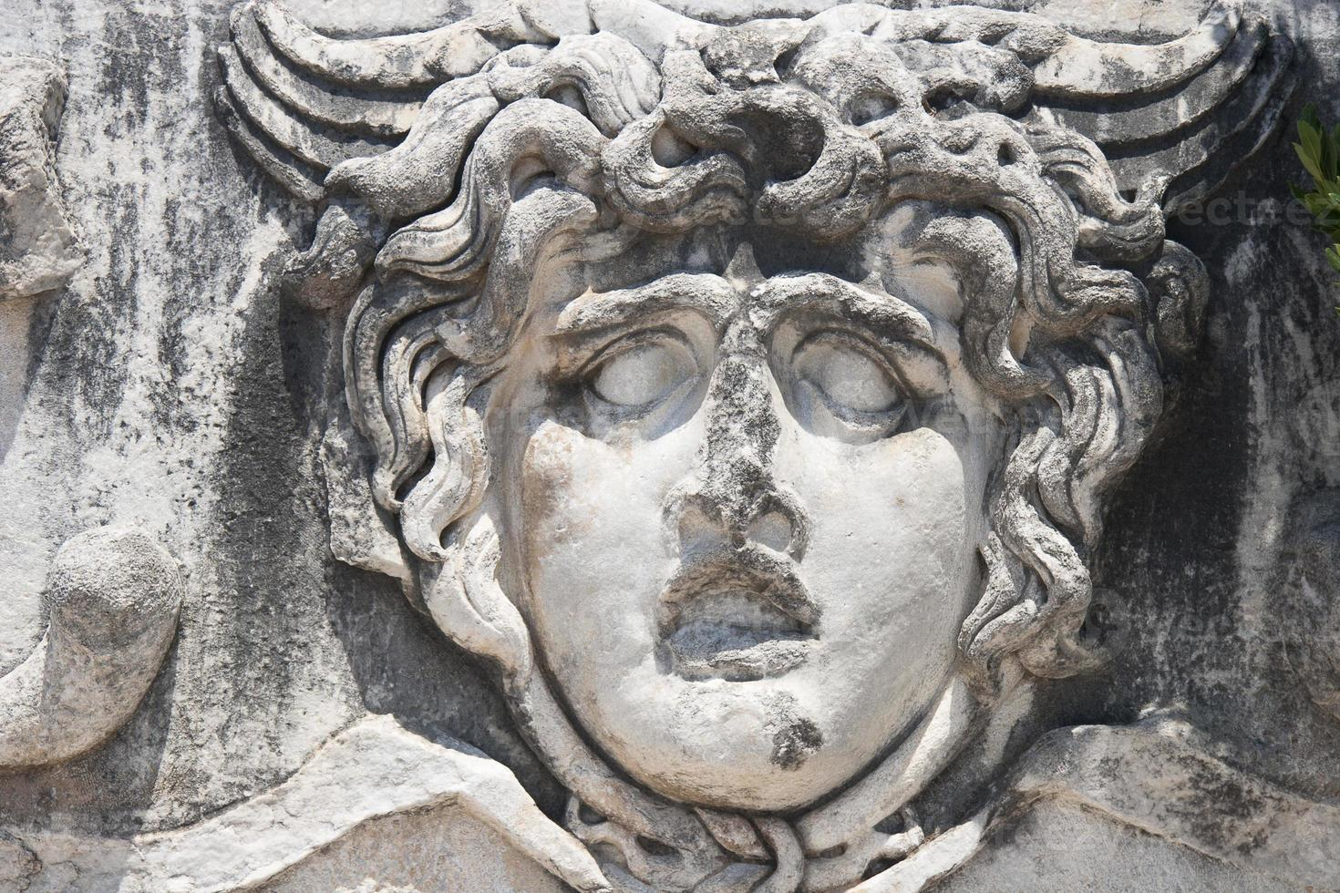 Medusa Gorgon im Apollo-Tempel foto