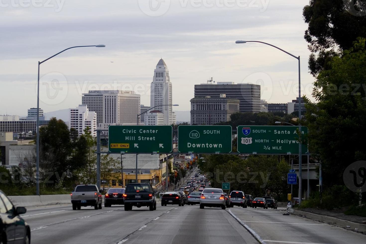 Los Angeles Hauptverkehrszeit foto
