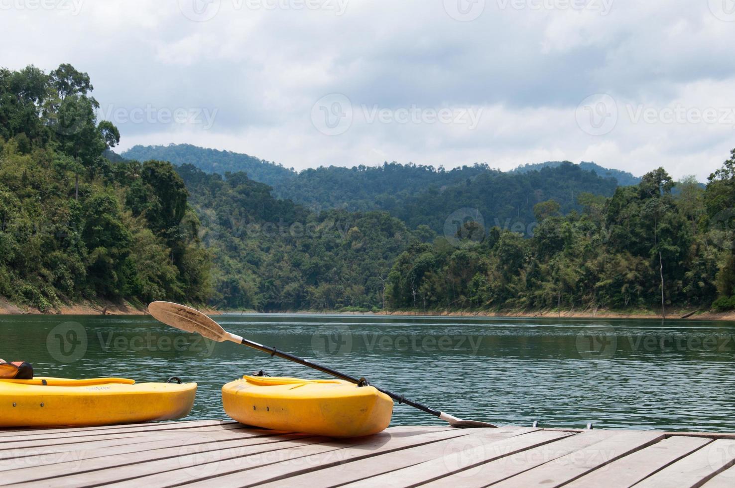 Kanu auf dem See foto