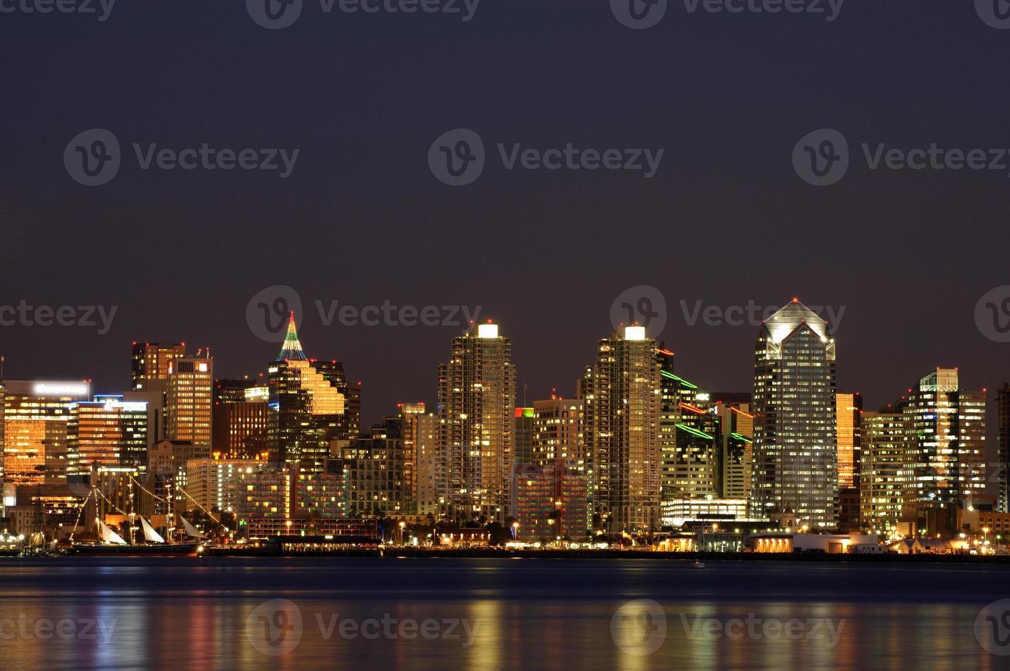San Diego Innenstadt Nacht Szene foto