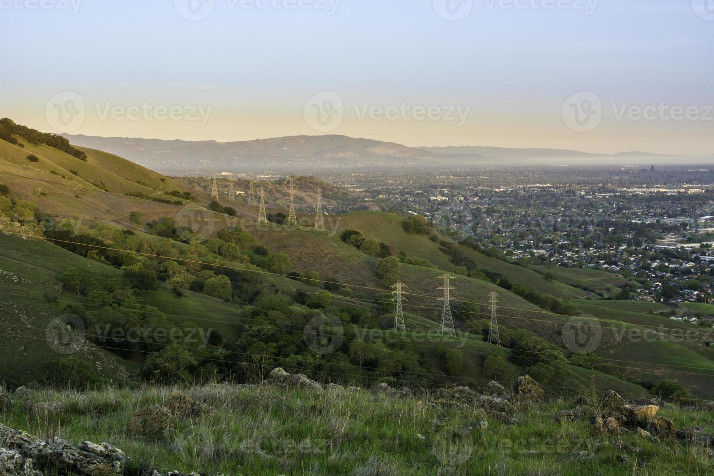 frühmorgendliches Stadtlicht foto