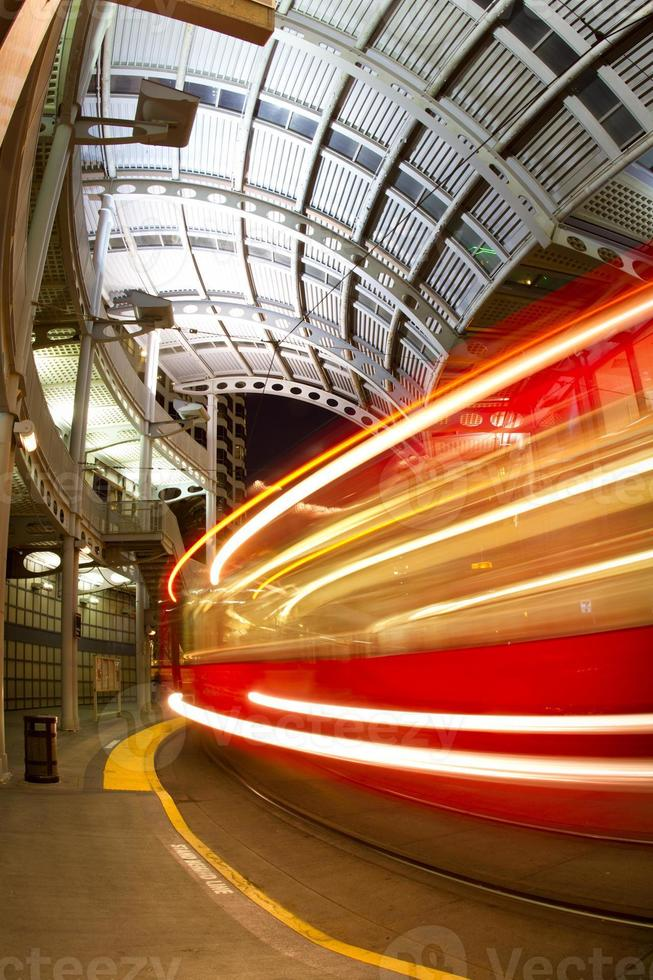 Wagengeschwindigkeitsunschärfe foto
