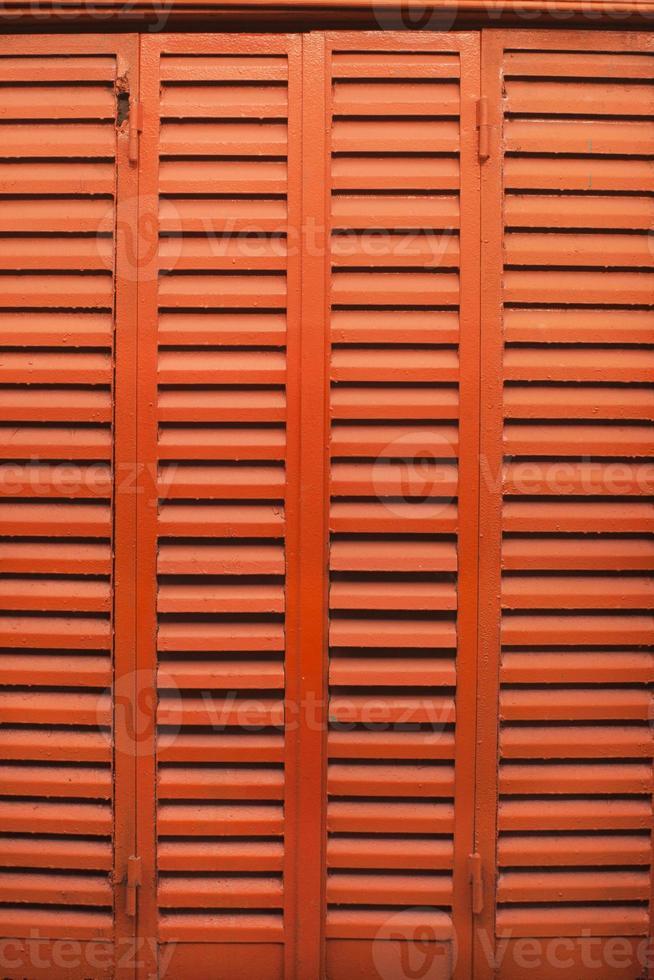 Vintage leuchtend orange Fenster foto