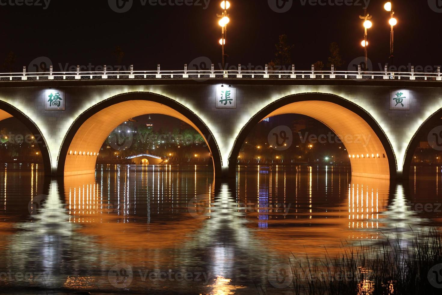 Brücke in Xi'an, China foto