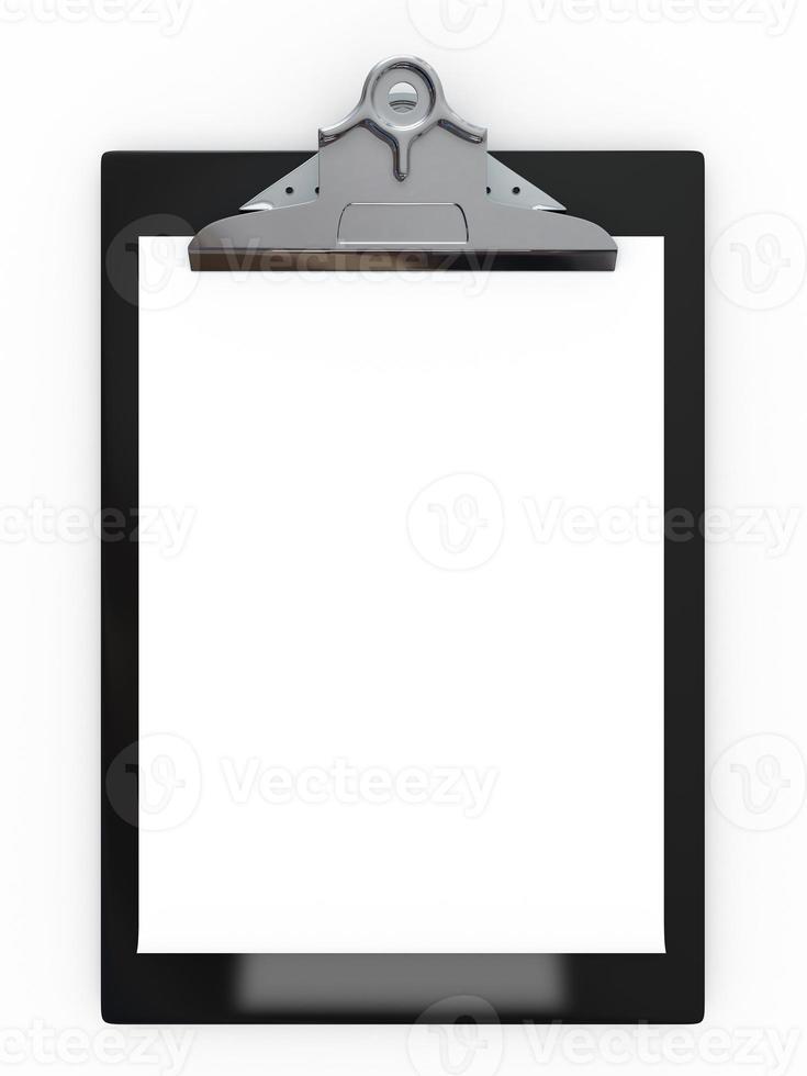 Zwischenablage mit Papier foto