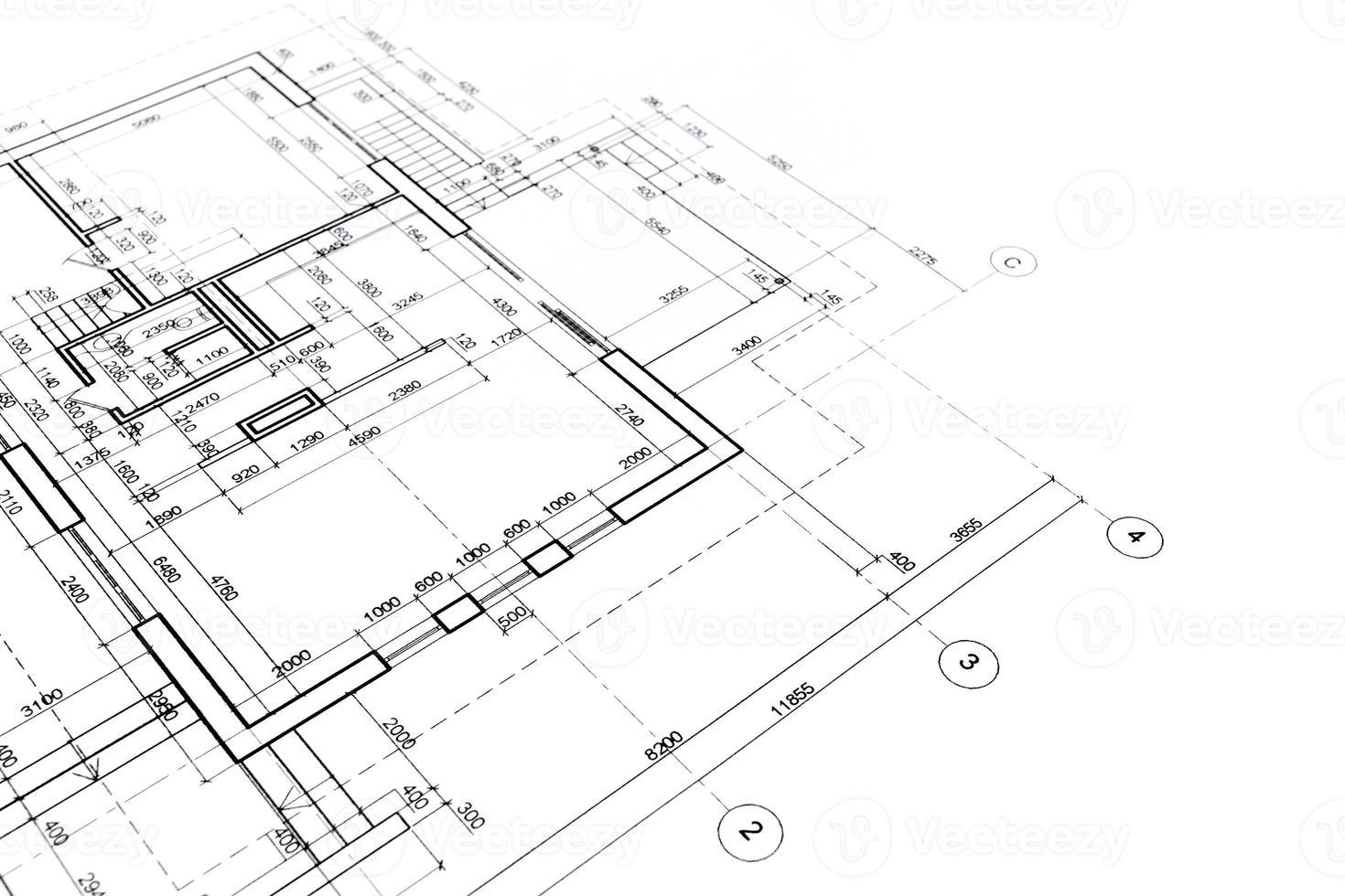 architektonische Grundrisse foto