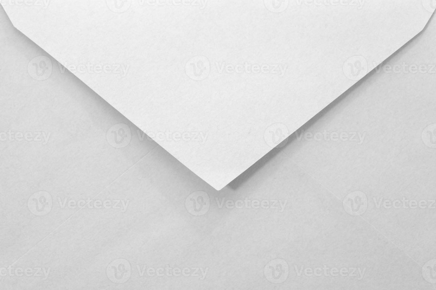 Nahaufnahme leerer weißer Papierumschlag foto