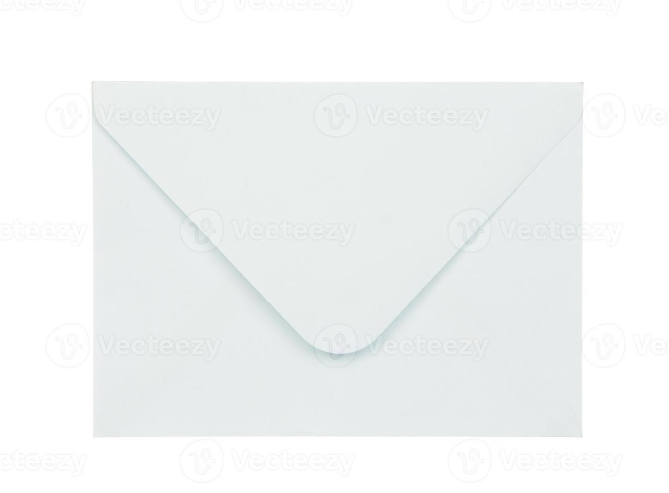 Umschlag isoliert auf weiß foto