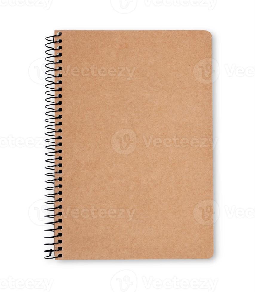 Vorderseite des Notizbuchs aus Recyclingpapier foto
