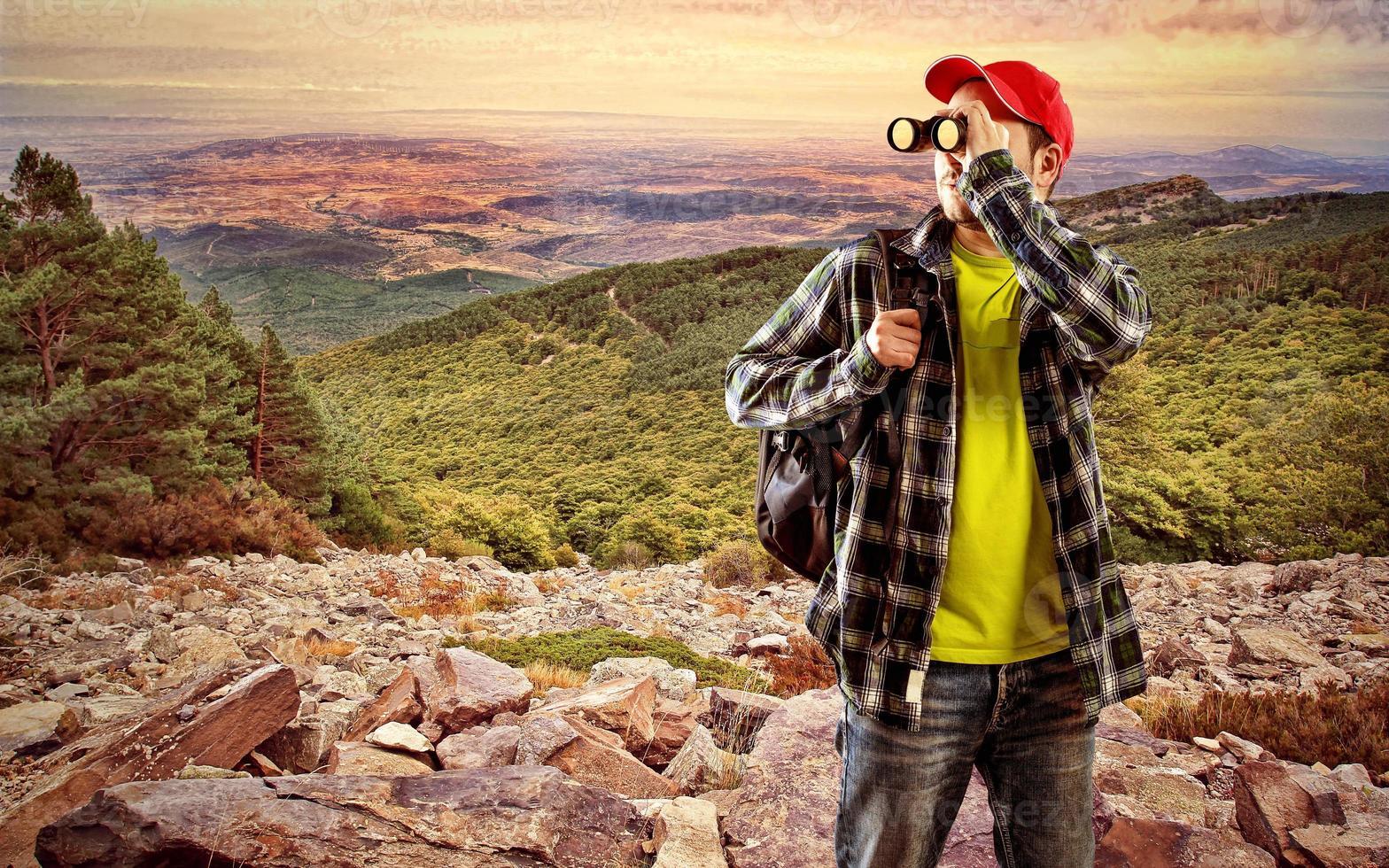 männlicher Reisender foto