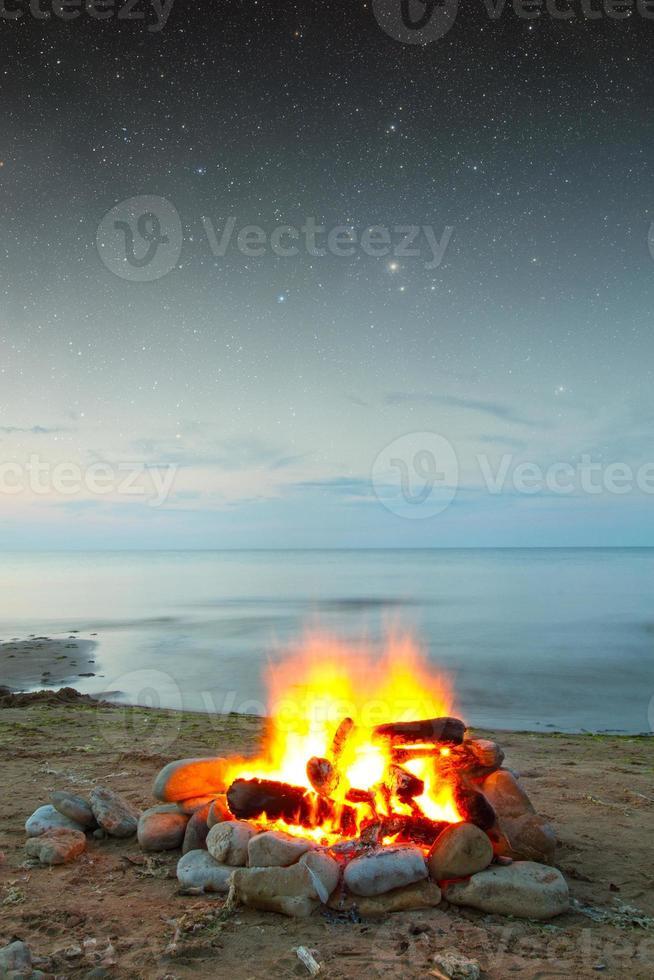 Feuer auf See foto