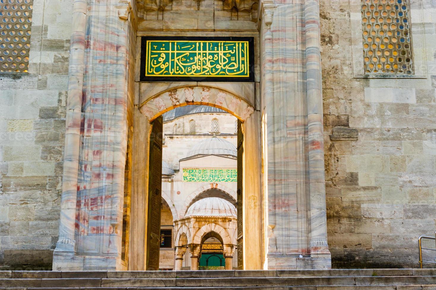 Die Sultan-Ahmed-Moschee ist eine historische Moschee in Istanbul, Türkei foto